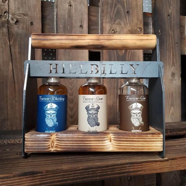 "Friesen-Spirits-Set ""Craftsman"" (Whiskey, Rum & Gin) • 40%vol. • 3x0,1l"
